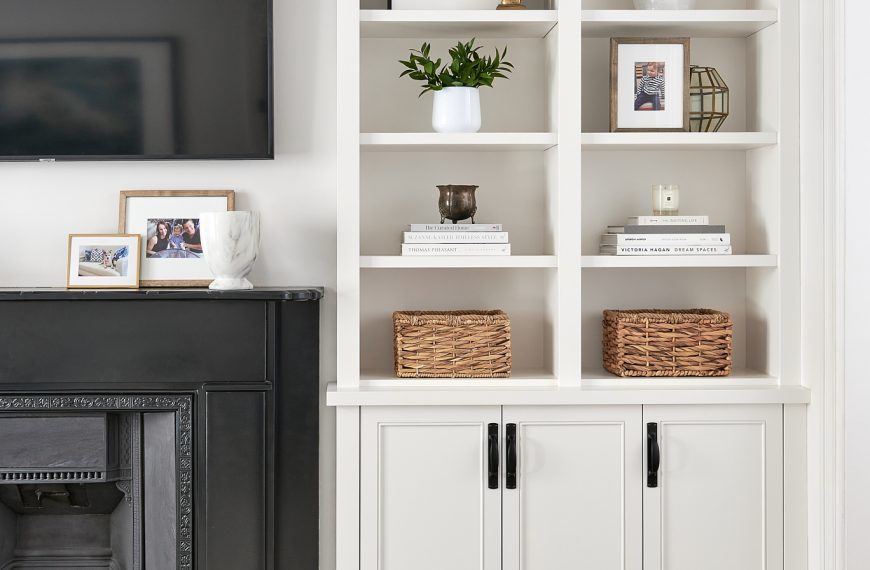 How to Style Shelves Beautifully